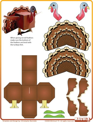 Turkey Template | Turkey Template, Turkey Craft And Thanksgiving