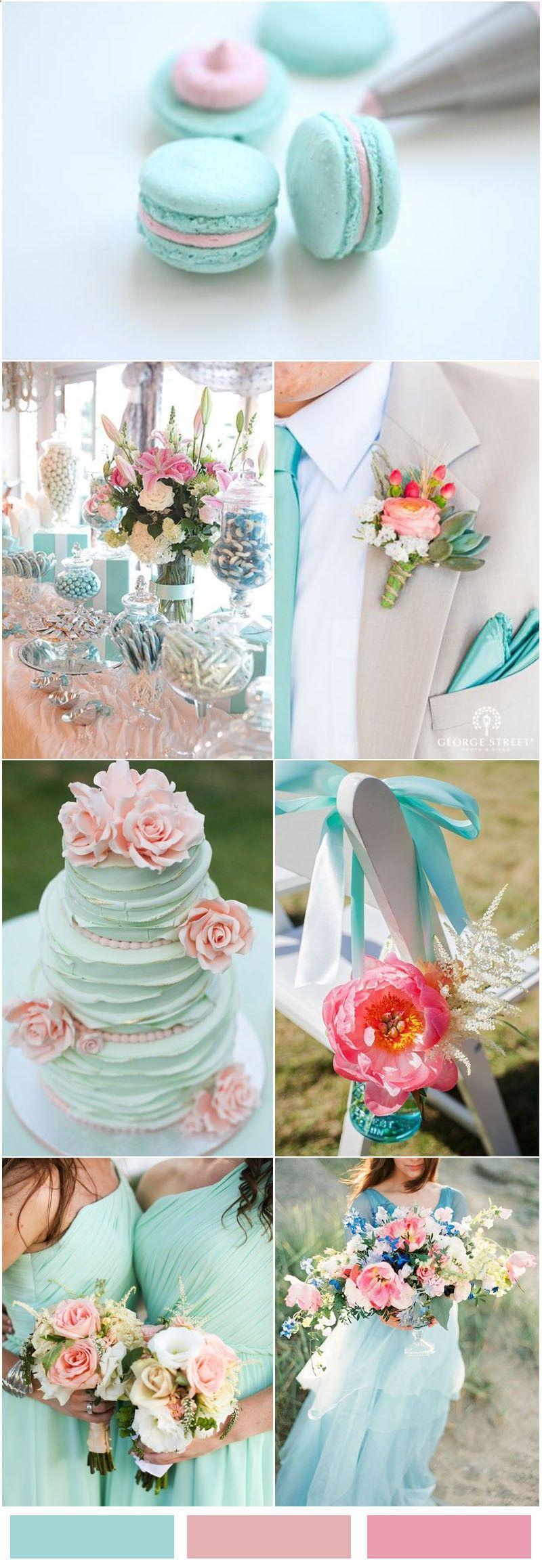Tiffany Blueinspired Wedding Color Ideas Pink wedding