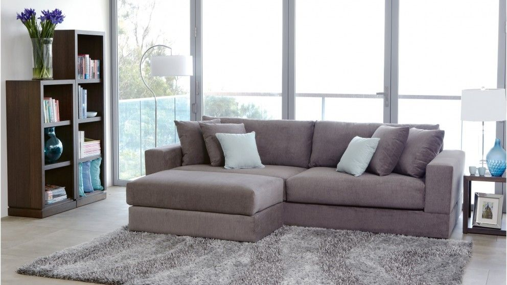 Eastern 4 seater fabric sofa lounges living room for Outdoor furniture harvey norman