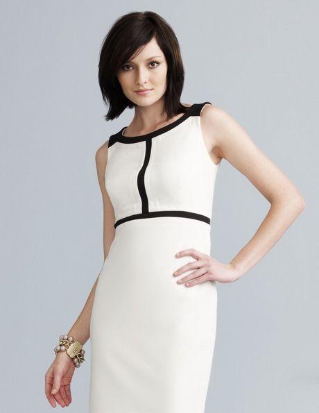 5506cadeb Vestidos Blanco con Negro ¡12 Diseños Espectaculares!