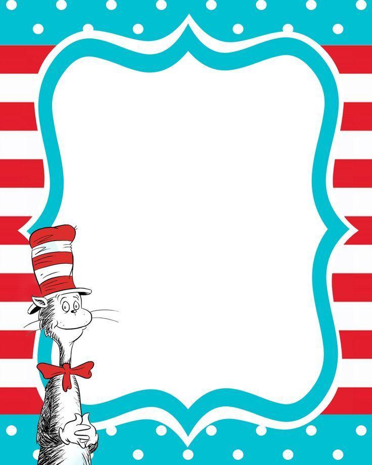 Free Printable Dr. Seuss Templates | Davis's 1st Birthday ...