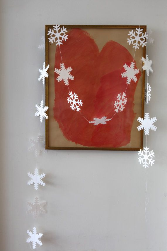 snowflake garland by chiarabelle on Etsy