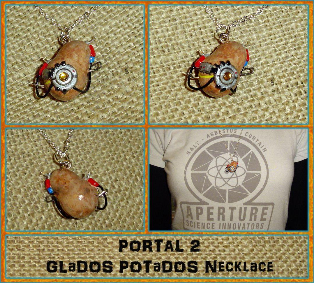 Portal 2 - GLaDOS POTaDOS Potato Charm Necklace by YellerCrakka.deviantart.com on @deviantART