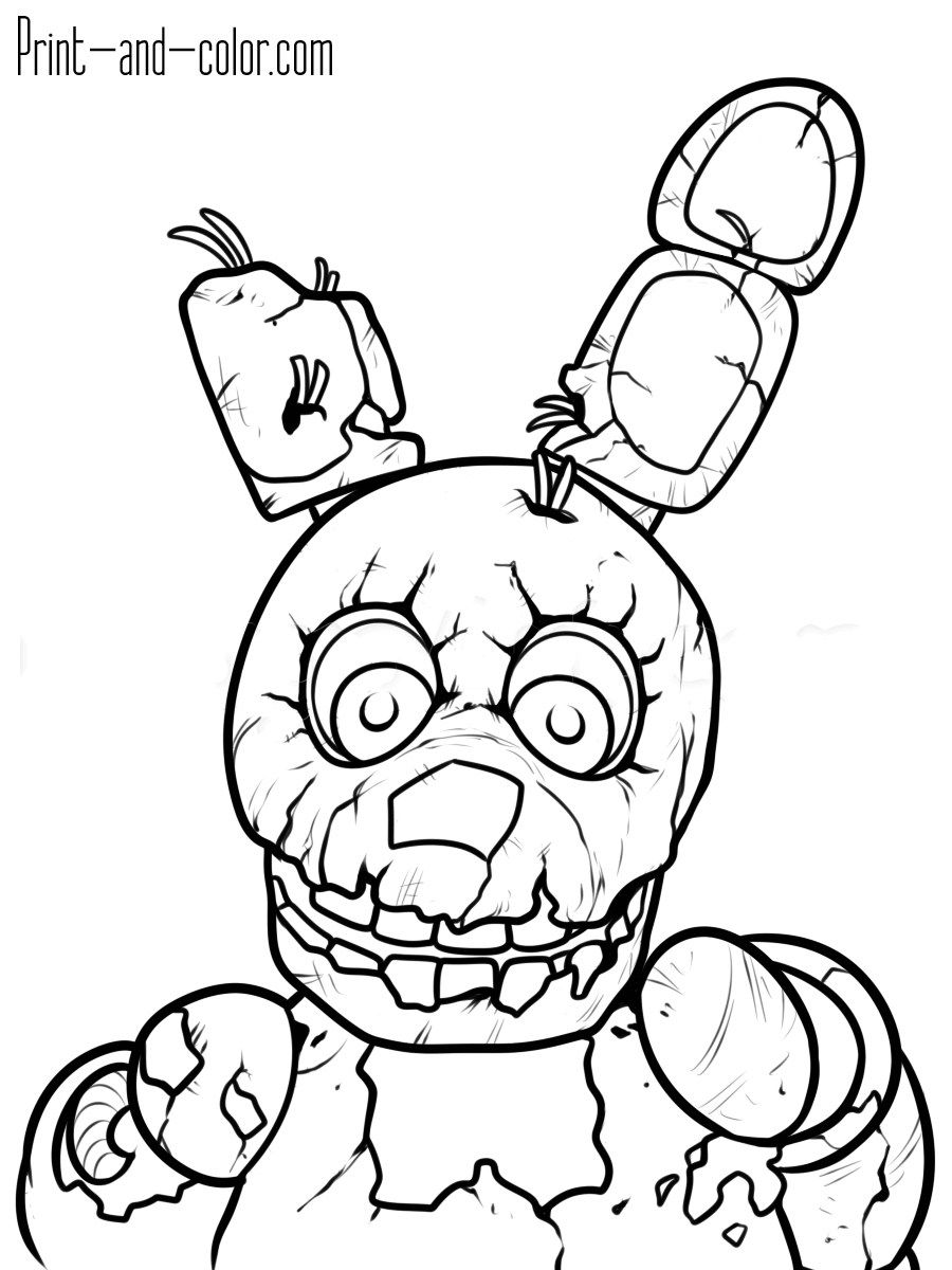 24 Marvelous Image Of Free Coloring Pages To Print Fnaf