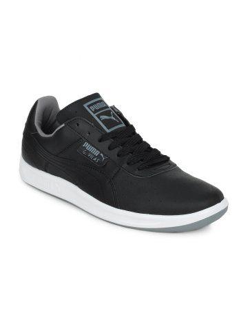puma men g vilas l2 black casual shoes with images