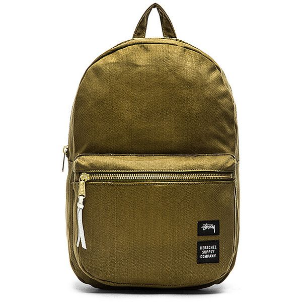 Stussy x Herschel Drab Lawson Backpack Bags (220 PEN) ❤ liked on Polyvore  featuring 888fdb89d7a81