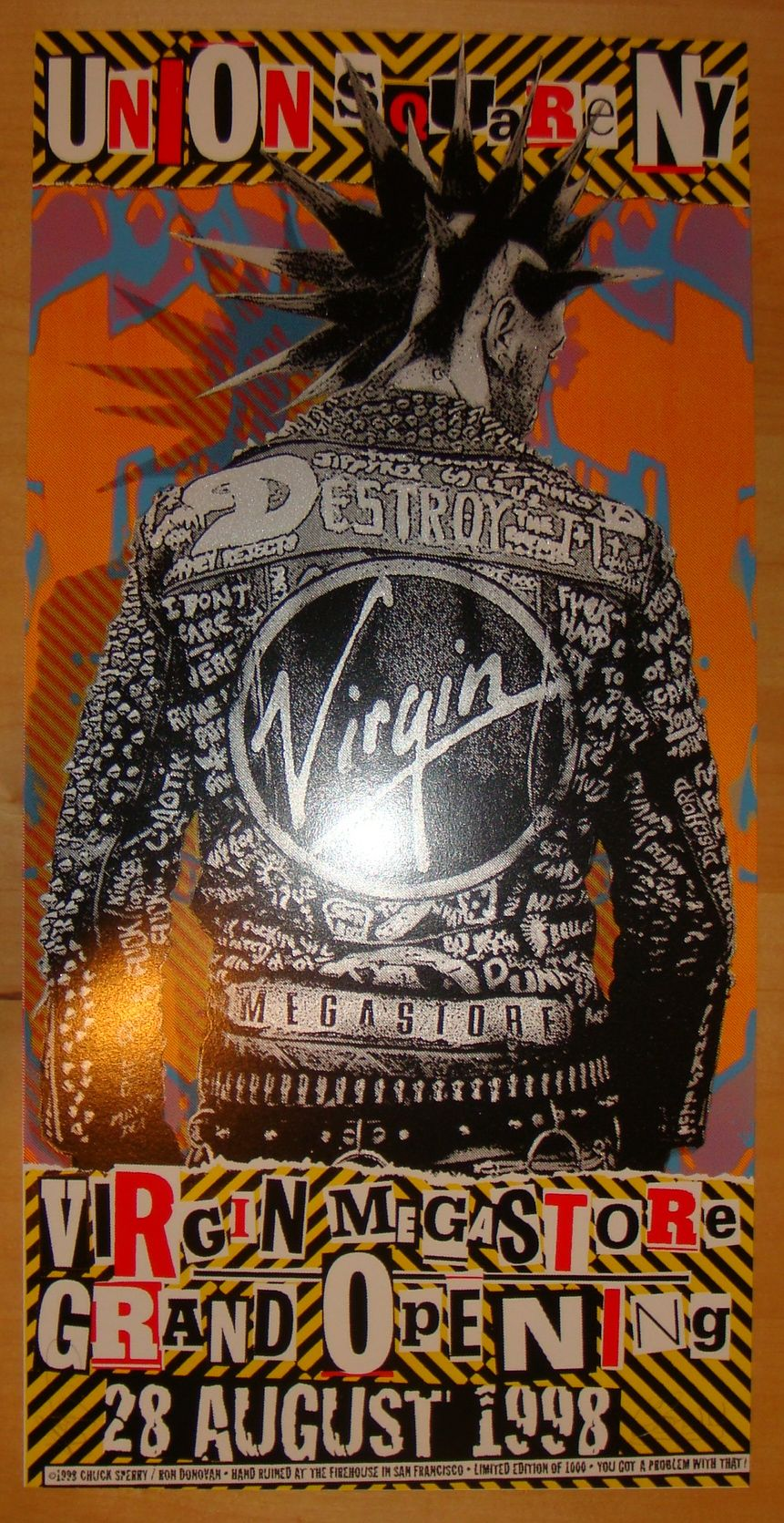 Virgin Megastore NYC poster by Firehouse