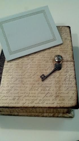Old photo album or book from thrift store turned into keepsake book box. Easy DIY