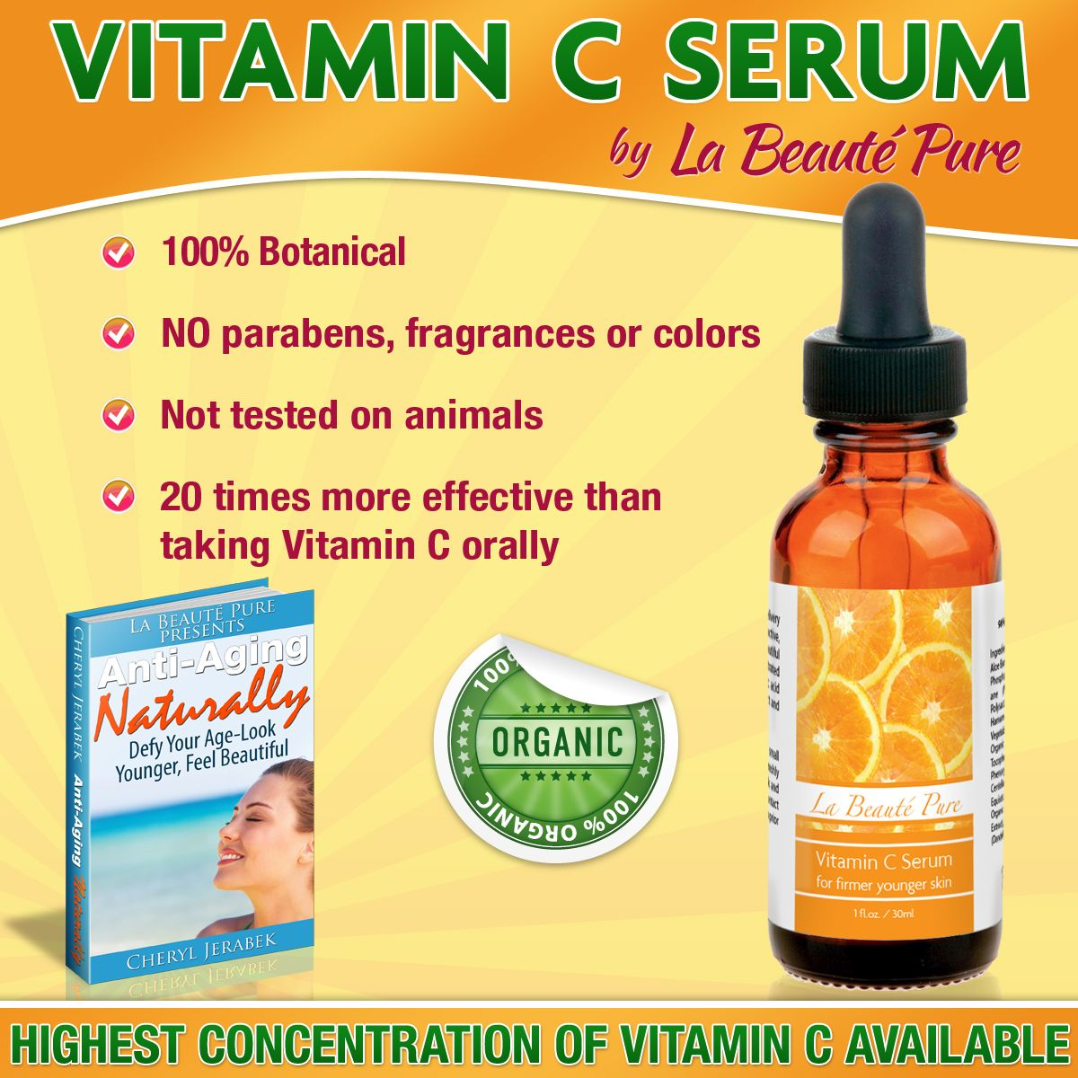Enjoy the benefits of a quality Vitamin C Serum! Vitamin