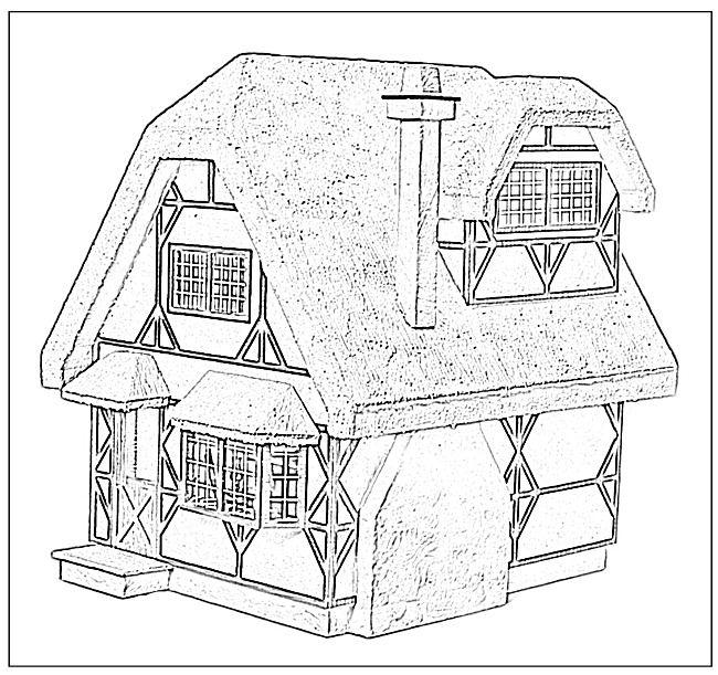 Dollhouse Coloring Page - Dollhouse Coloring Pages, HD Png ... | 611x650
