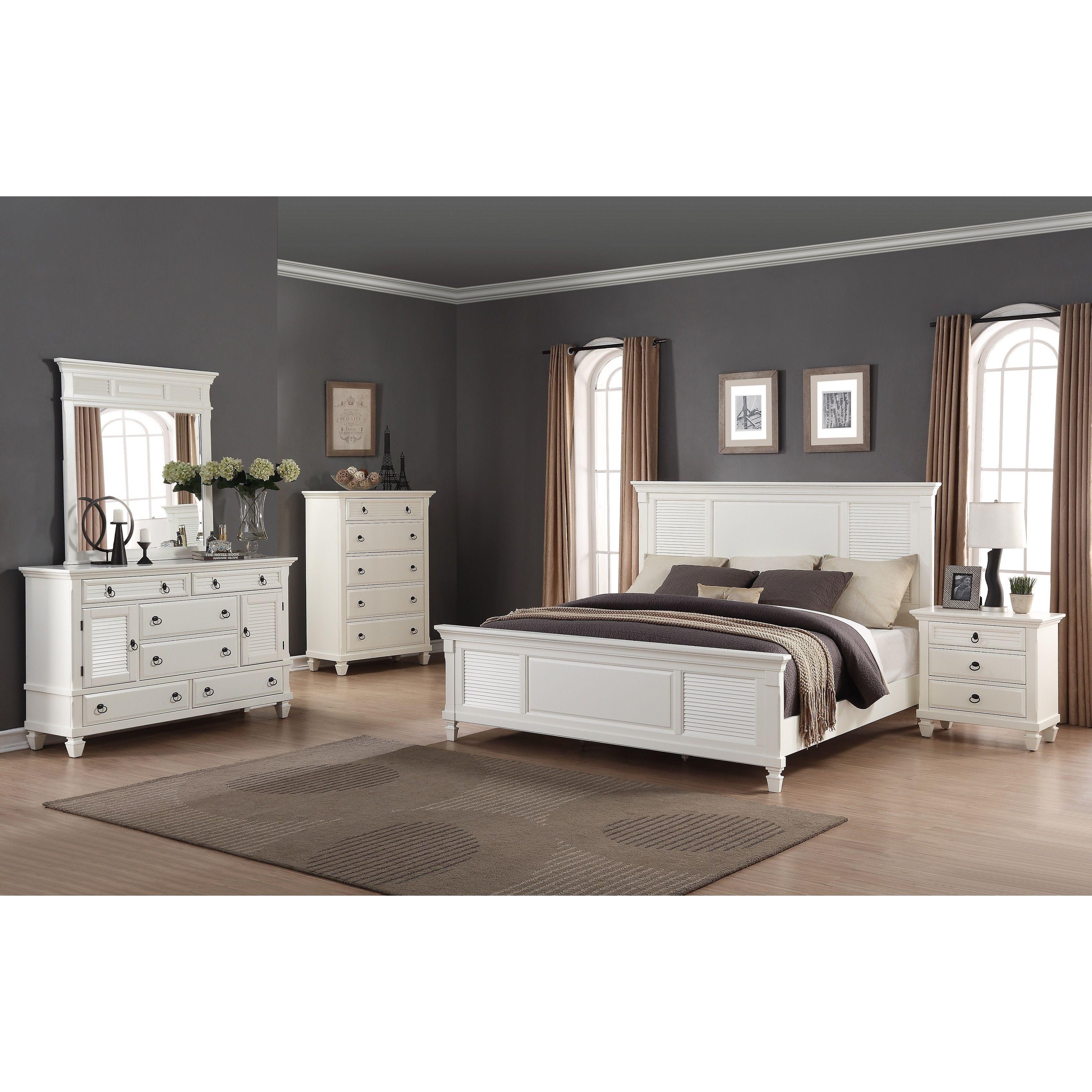 Regitina White 5Piece Queensize Bedroom Furniture Set Queen Inspiration Queen Size Bedroom Sets Inspiration Design