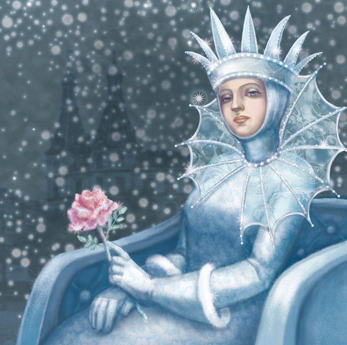 Картинка из сказки снежная королева