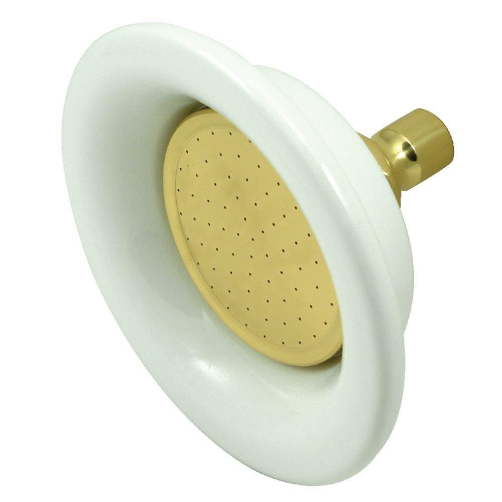 Kingston Brass 1 Spray 4 9 In Single Wall Mount Fixed Rain Shower Head In Brushed Nickel In 2020 Shower Heads Kingston Brass Elements Of Design