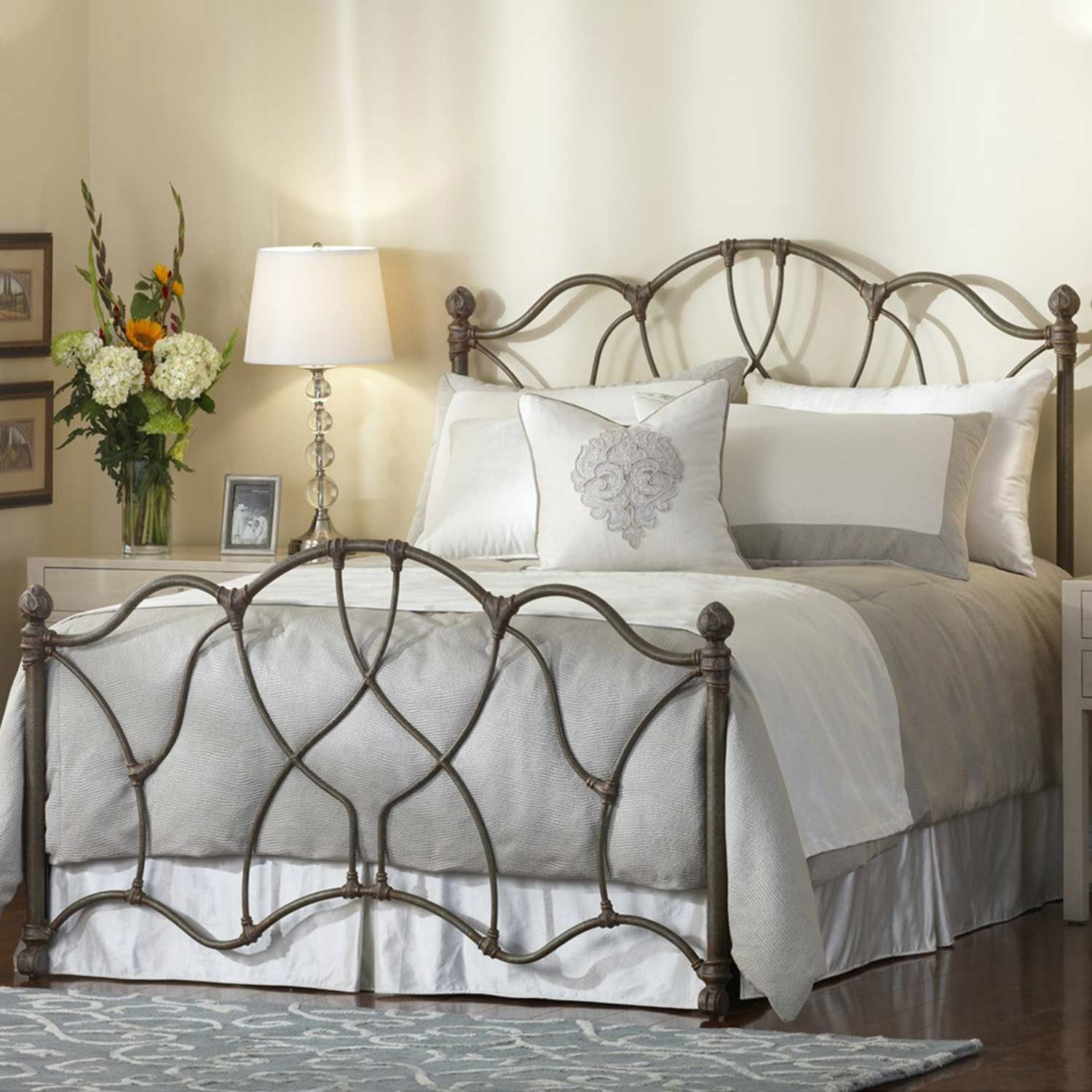 Morsley Iron Bed by Wesley Allen in Textured Old World