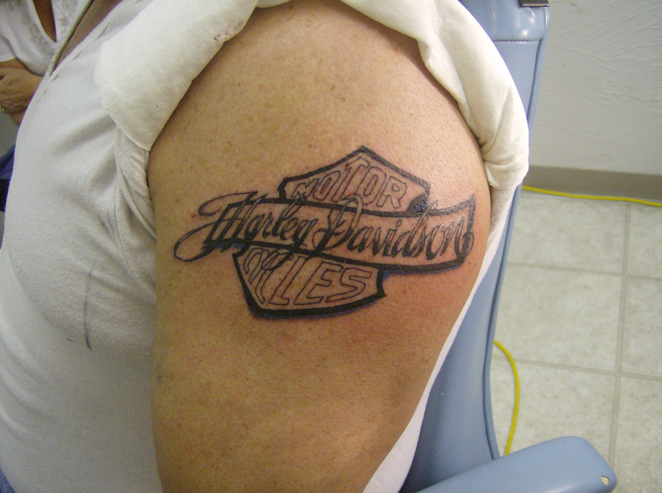 Motorcycle with biker tattoo - Motorcycle Tattoos For Girls Biker Tattoos