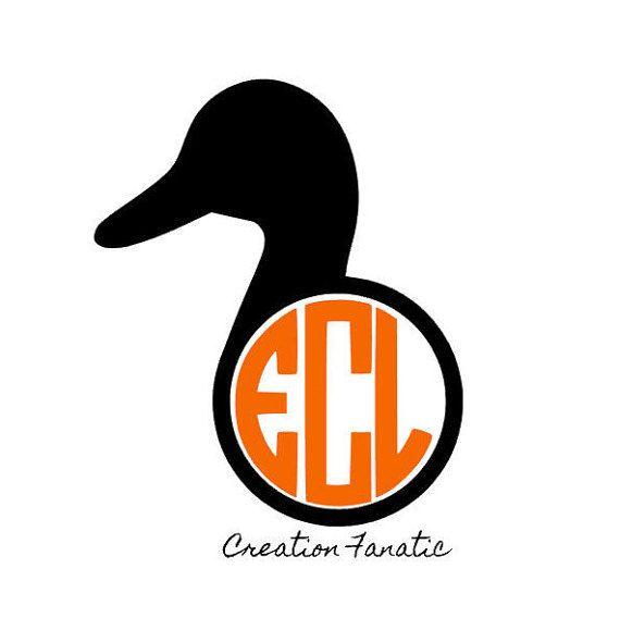 Duck Head Rtic Vinyl Decal Yeti Rambler By Creationfanatic With Images Vinyl Decals Yeti Rambler Monogram Laptop Decal