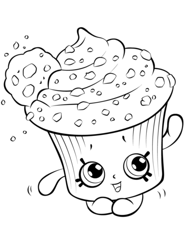 Amazing Cupcake For Kids Shopkins Season 5 Coloring Pages Printable And Book To Print
