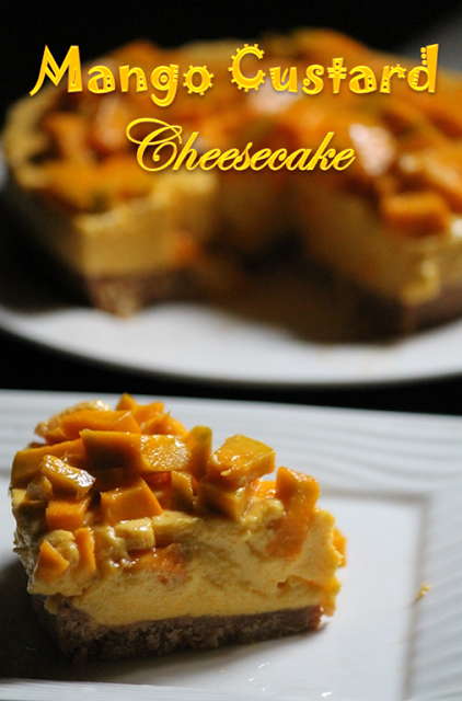 No Bake Mango Custard Cheesecake Recipe Yummy Tummy Cheesecake Recipes Baking Mango Dessert