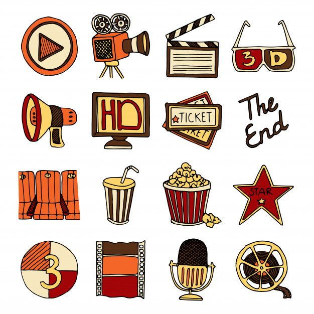 Vintage cinema filmmaking studio and movie theater color icons set with tape bobbin abstract isolated vector illustration. Download thousands of free vectors on Freepik, the finder with more than 3 millions free graphic resources