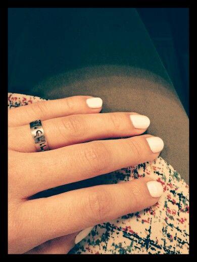 Uñas blanco tiza #boho #nails #hechopormi