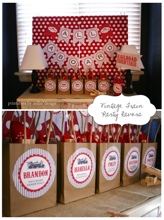 Nellie Design Fridays with Fin Vintage Train Birthday Party
