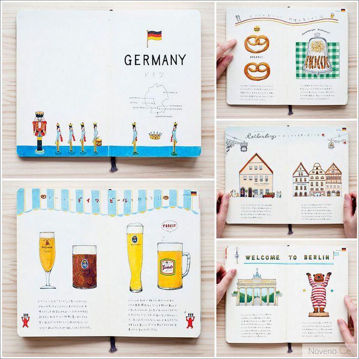 #Travel #journal | Los cuadernos de viaje de la ilustradora Yoshie Kondo – Noven…