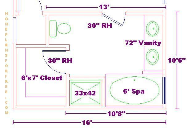 8 12 Bathroom Floor Plans: Bathroom Floor Plans, Closet
