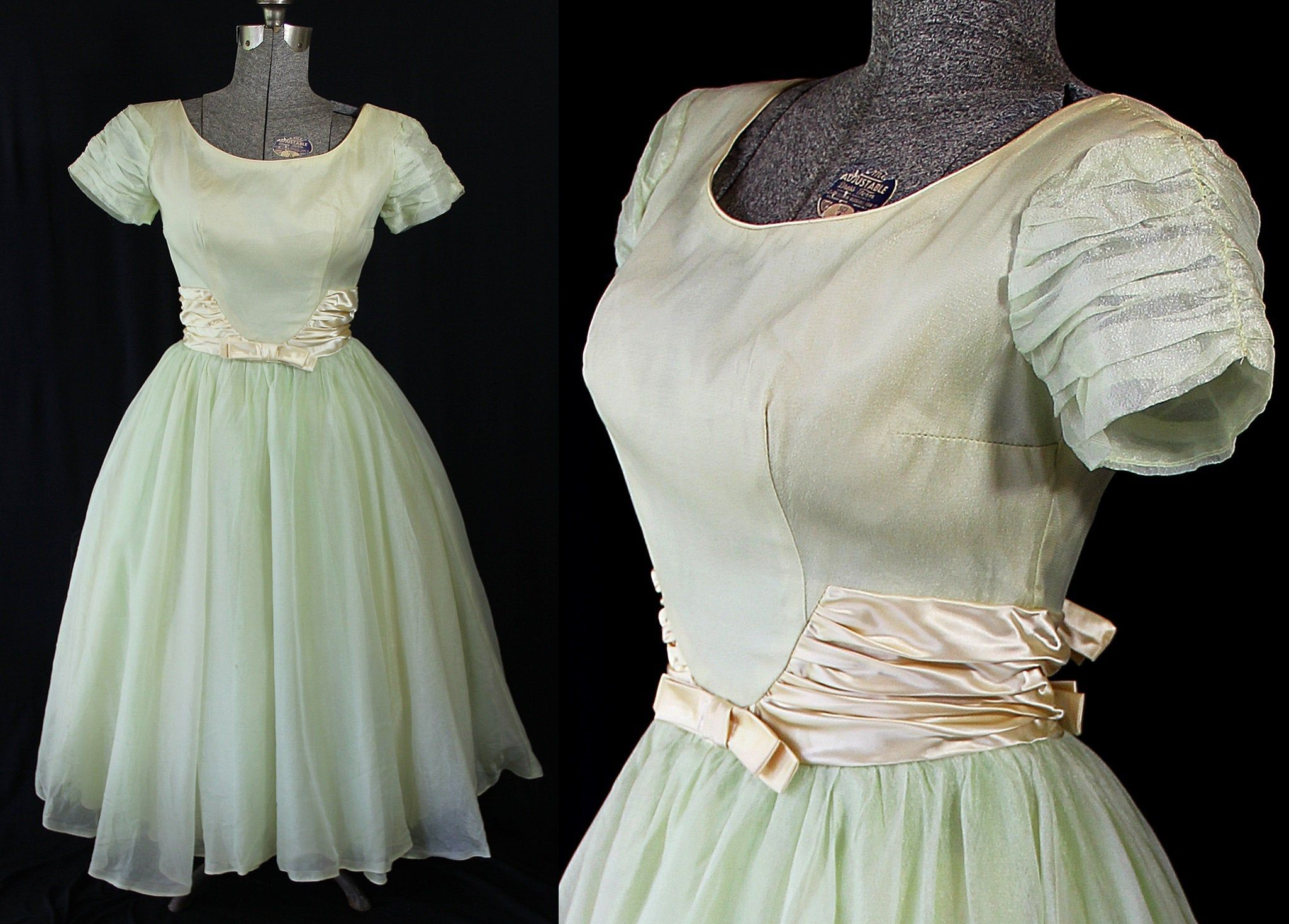 Emma Domb Dress 60s Party Prom Vintage Wedding Pale Green Etsy In 2021 Dresses 60s Dress Tent Dress [ 1470 x 2049 Pixel ]