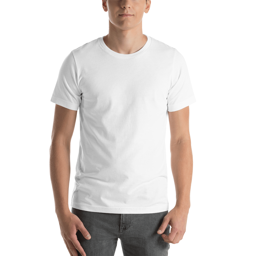 Download Bella Canvas 3001 Unisex Short Sleeve Jersey T Shirt With Tear Away Label Mockup Generator Printful White Short Sleeve Shirt T Shirt Shirts
