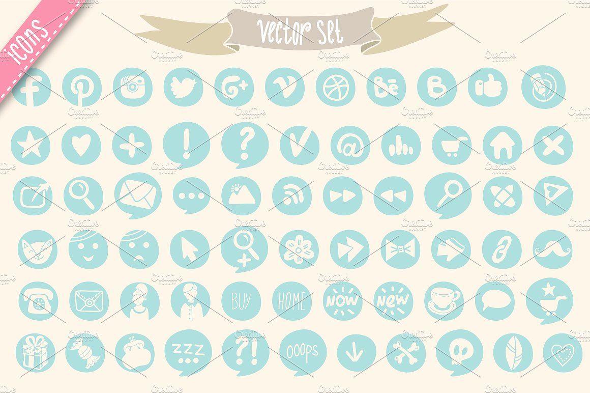 Social icons includesfilesZIPvector Social icons