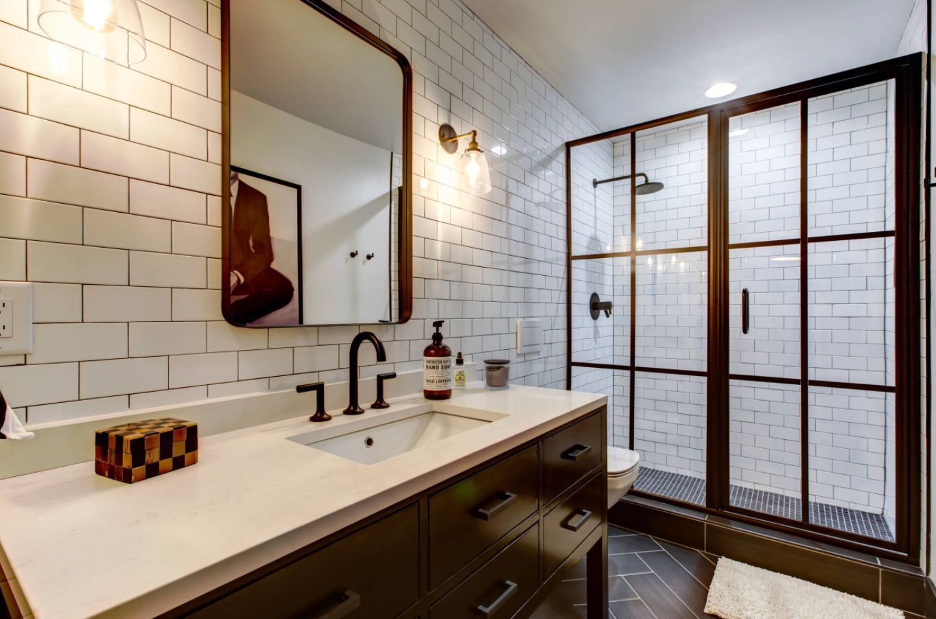 Fliesen ideen um badezimmer eitelkeit stilvolle möglichkeiten eine ubahnfliesendusche zu modernisieren