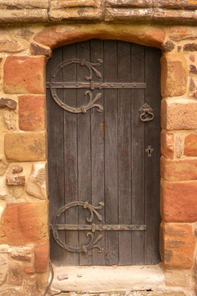 Tiny Oak Door, St Peters Church, Mancetter, England