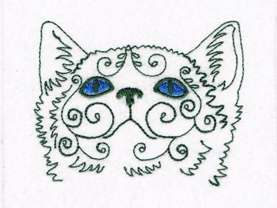 Swirly Cat Faces Machine Embroidery Designs Httpdesignsbysick