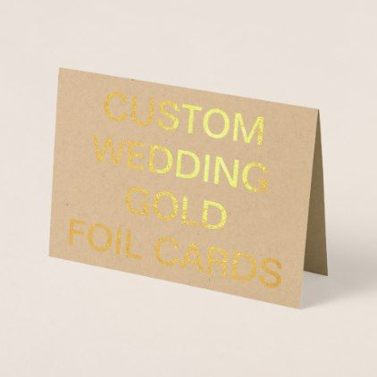 #wedding #thankyoucards - #Custom Wedding 7x5 Personalized Gold Foil Cards