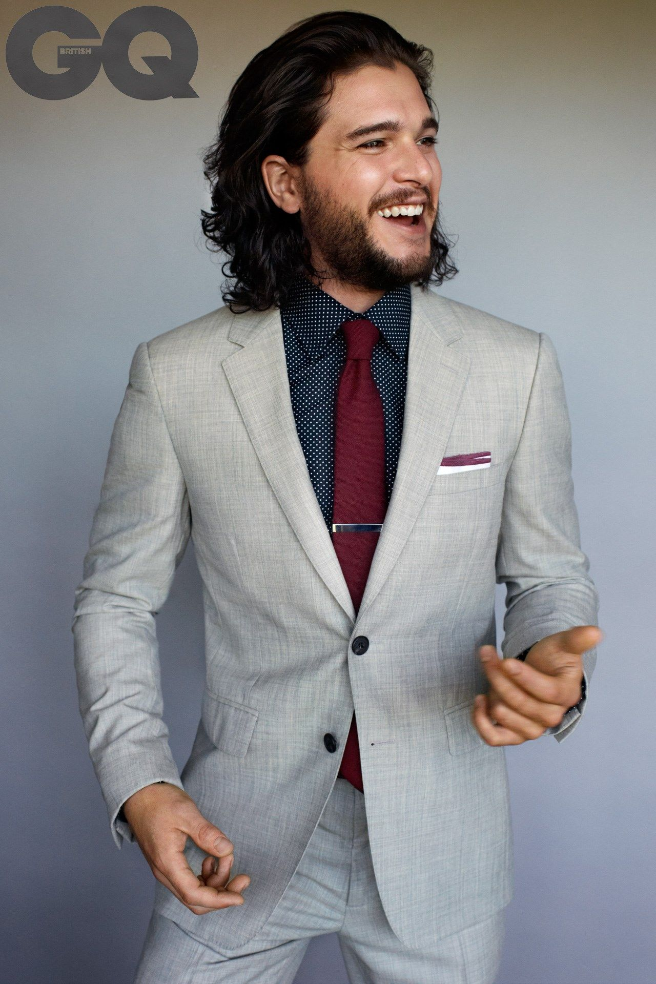 Kit Harington is the king of thrones White wedding suit