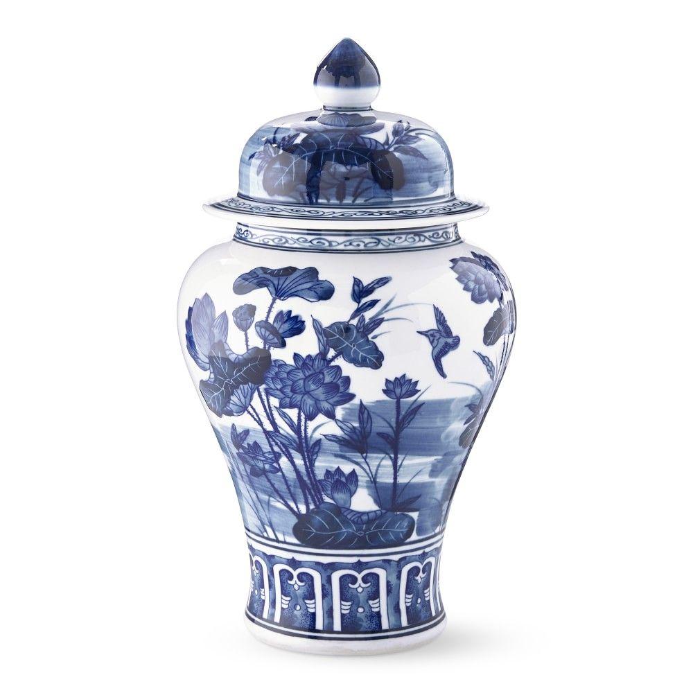 Blue white swallowtail ginger jar in 2020 ginger jars