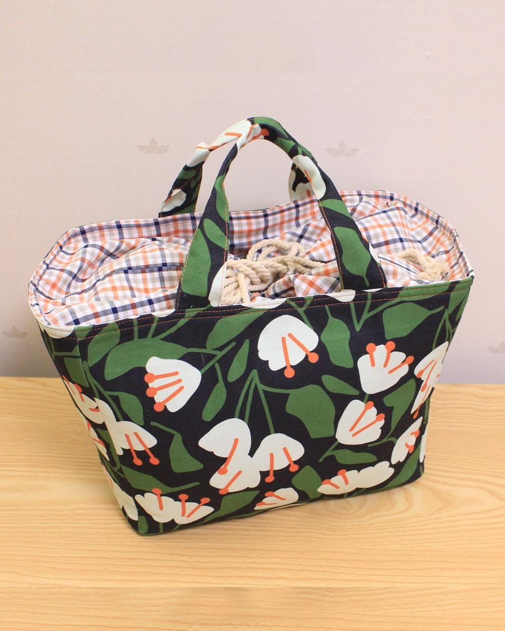 DIY MARKET TOTE BAG | Shopping Bag Sewing Tutorial | Basket bag [sewingtimes