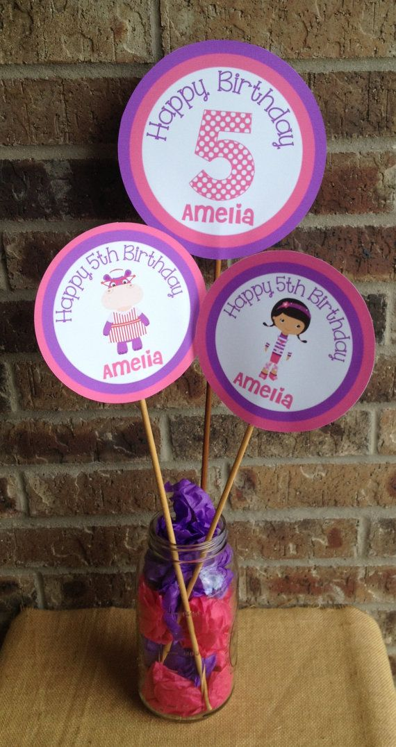 Doc McStuffins Themed Centerpiece Birthday Party By Susanefird Baby 1st 3rd Parties