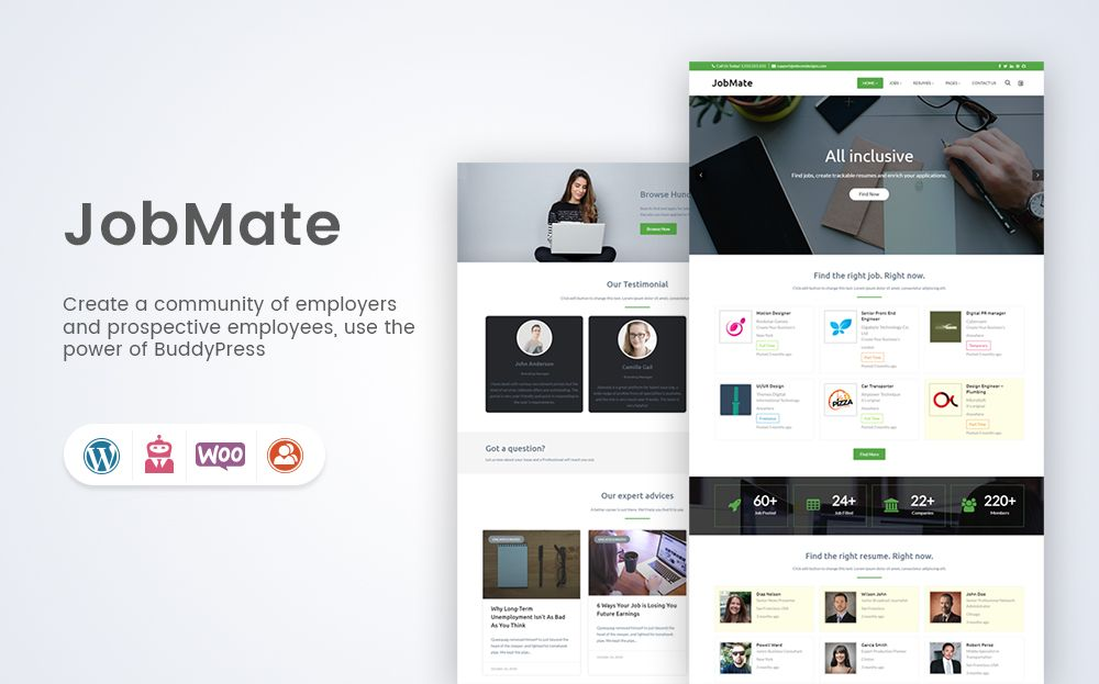 Jobmate: Ultimate WP Job Manager Theme | WordPress Website