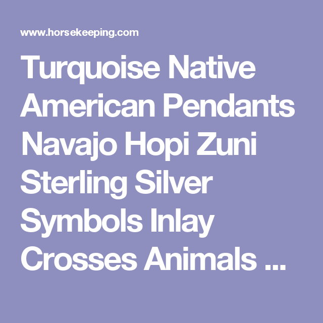 Turquoise Native American Pendants Navajo Hopi Zuni Sterling Silver