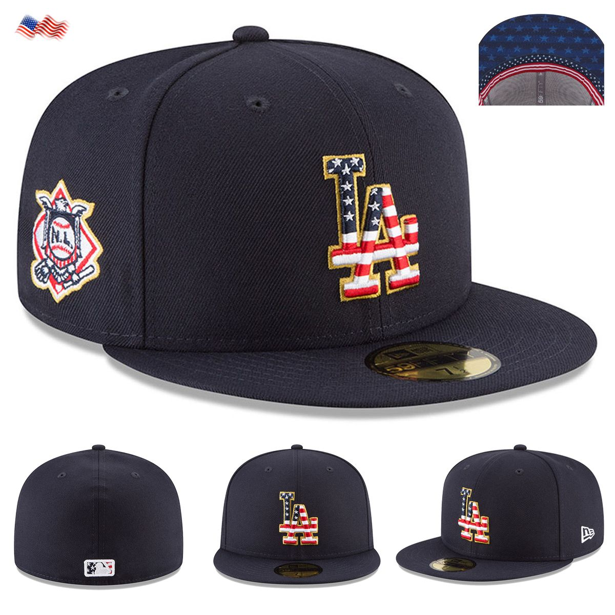 4e6b6727 Details about New Era Cap 59FIFTY Los Angeles Dodgers 4th Of July ...