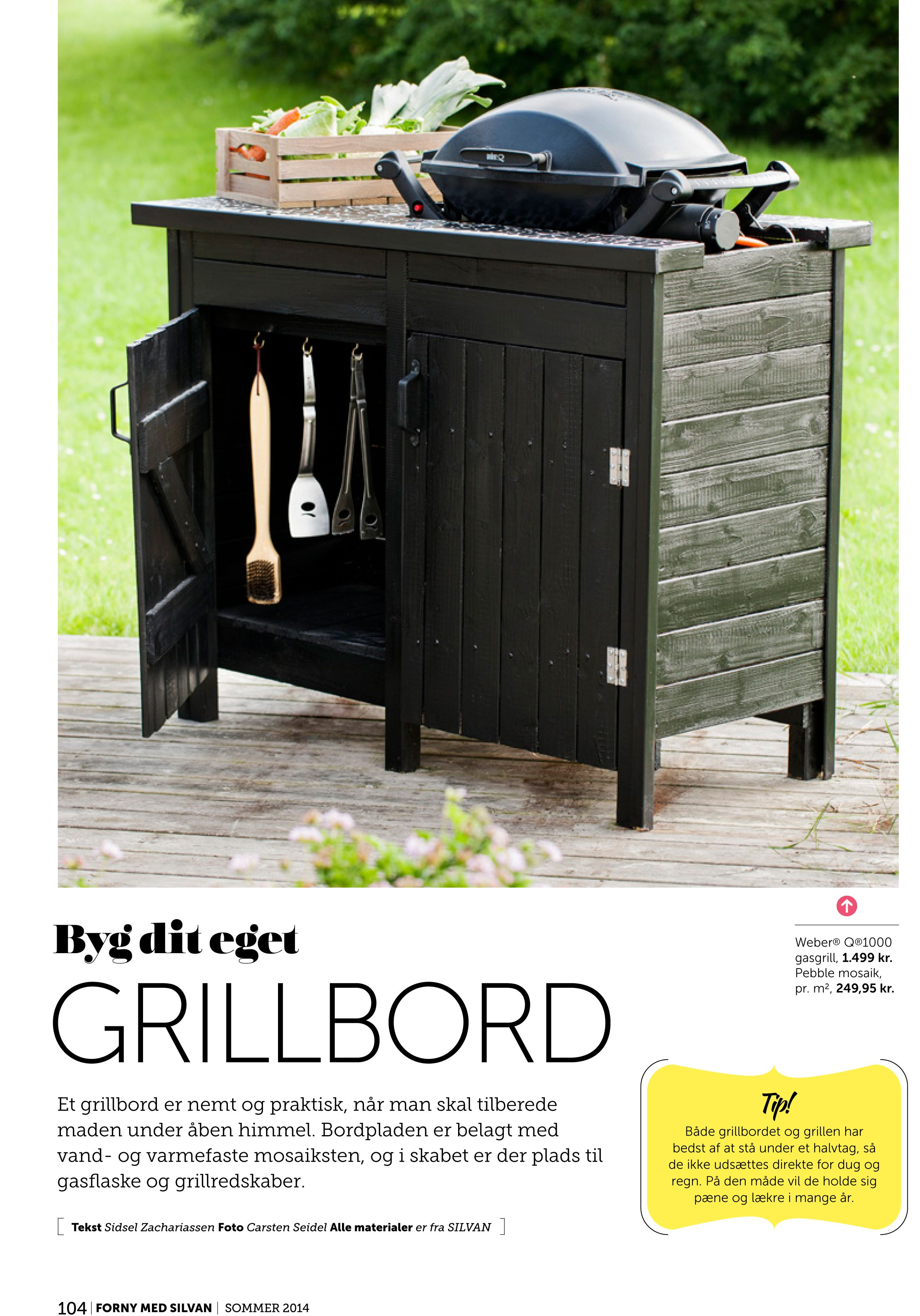 Learn how to build an outdoor tabletop grill cart Perfect for