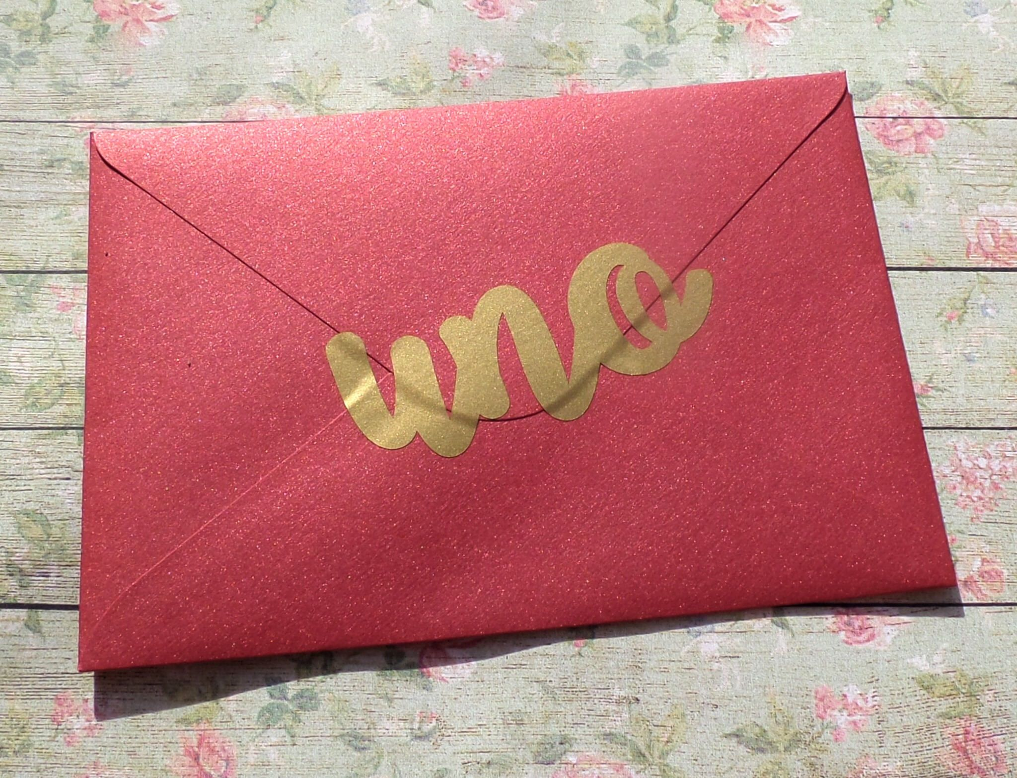 UNO stickers uno birthday party invitation seal gold envelope