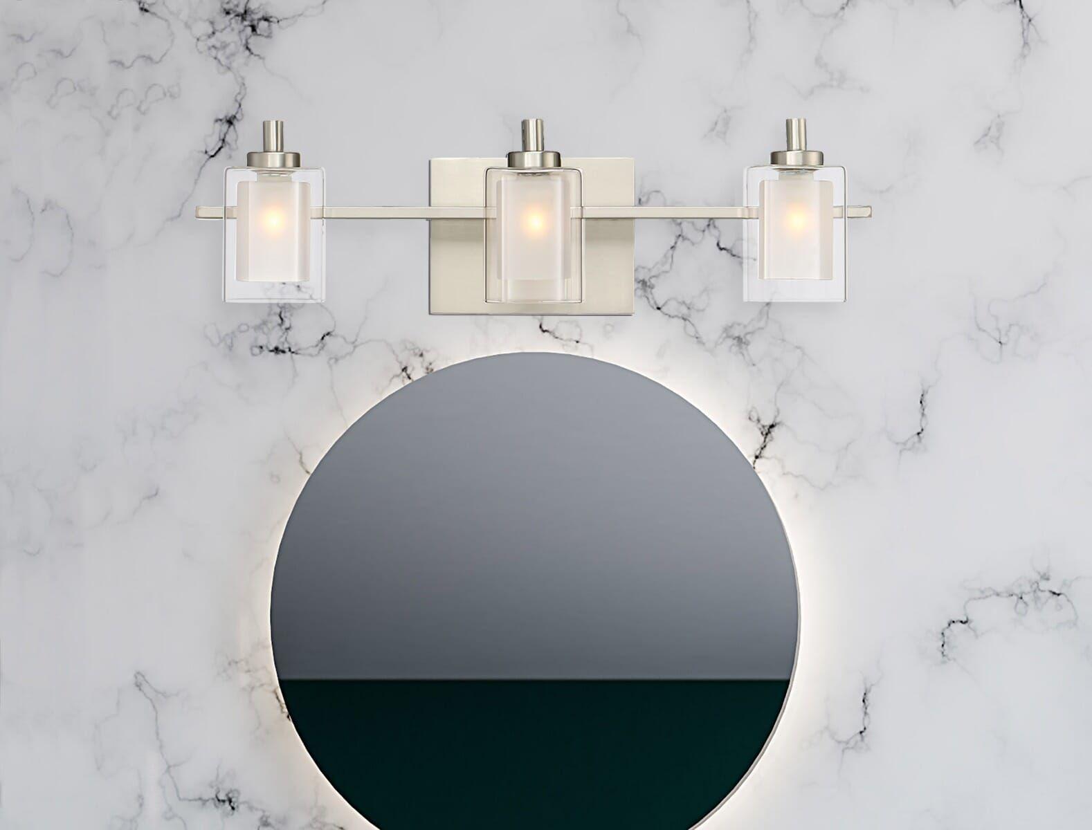 "Photo of Quoizel Kolt 3-Light 6 ""bathroom vanity lamp made of brushed nickel"