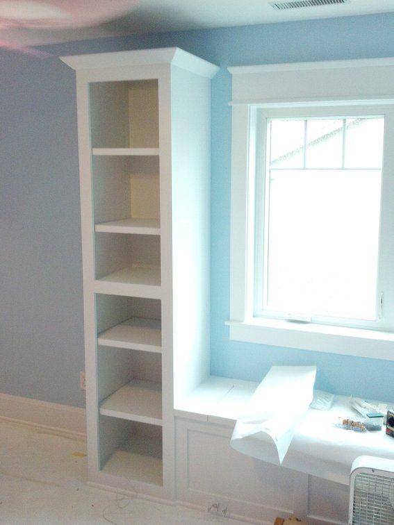 kitchen dining window seat | Window Seat & Built-In Bookshelves