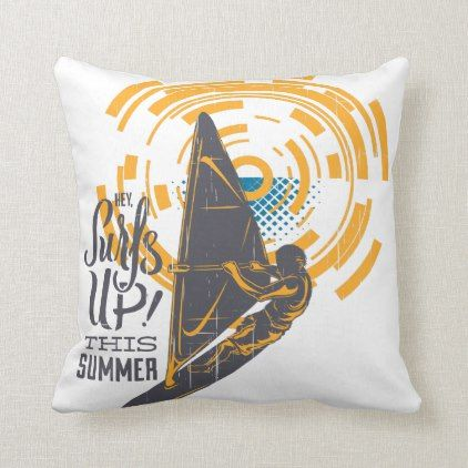 Hey! Surfs Up this Summer Shirt Throw Pillow | Zazzle.com #surfsup