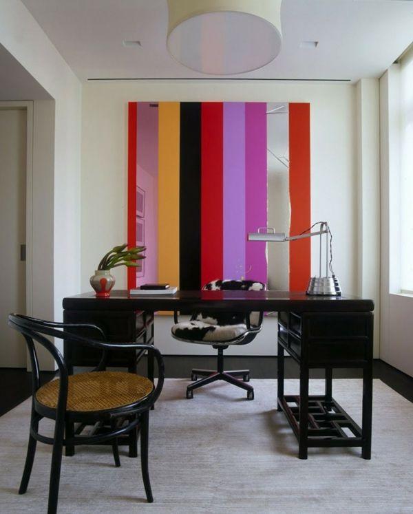 Stimmungsvolle Farben Im Haus Bunte Streifen An Der Wand
