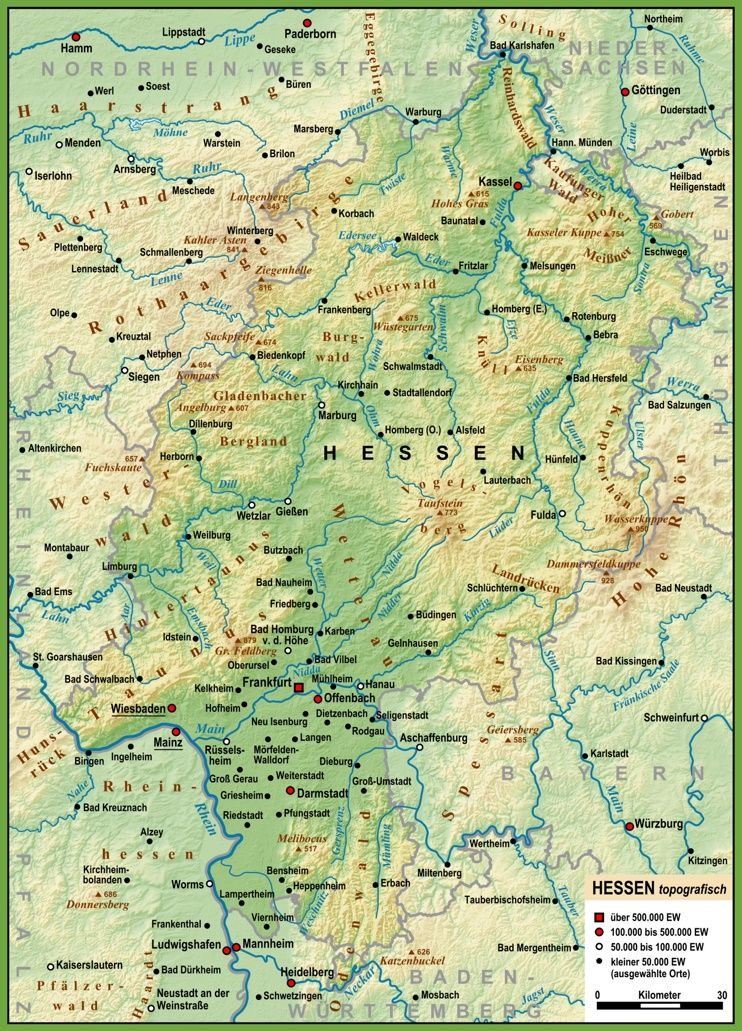 detailed map of Hesse Maps