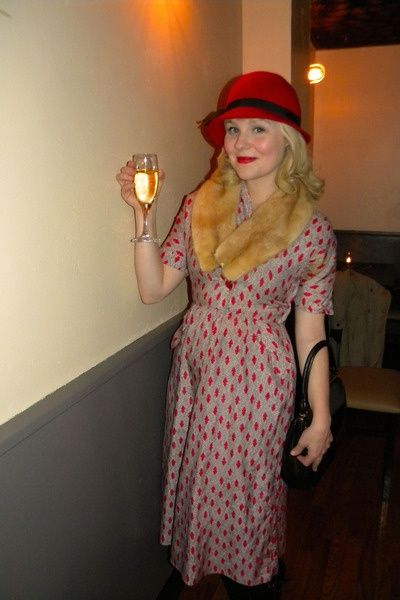 1930s Themed 40th Birthday Party Vintage Red Dress Party Outfit Themed Outfits