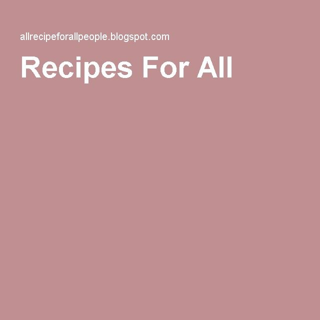 Recipes For All